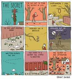 INCIDENTAL COMICS: The Secret. And we do: it's simply not true that we are always oblivious to our surroundings ... just sometimes.
