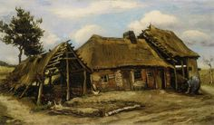 Cottage in Brabant -Vincent van Gogh - 1885