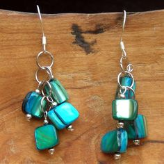 Mother of Pearl Cluster Earrings $17.99 #Fairtrade #Jewelry #Handmade