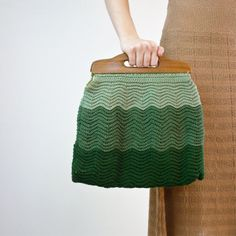 Knitted bags.