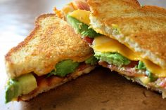 Bacon Avocado Grilled Cheese-
