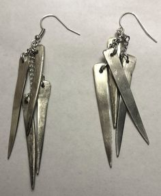 Earrings Crafted from Antique Fork by LaurenFrazier on Etsy, $47.00