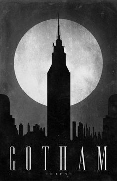 Gotham City :: minimal poster design