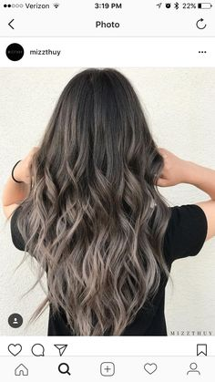 Long Wavy Ash-Brown Balayage - 20 Light Brown Hair Color Ideas for Your New Look - The Trending Hairstyle Brown Hair With Blonde Highlights, Brown Ombre Hair, Light Brown Hair, Ombre Hair Color, Brown Hair Colors, Hair Highlights, Dark Hair, Dark Brown, Ash Brown Balayage
