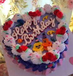Beautiful Birthday Cakes, Beautiful Cakes, Amazing Cakes, Korean Cake, Frog Cakes, Cute Baking, Cute Desserts, Just Cakes, Cafe Food