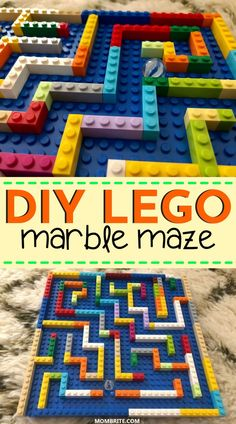 LEGO and mazes are the perfect combination when it comes to creating a fun STEM challenge for your kids! If you are looking for indoor boredom busters you can DIY using just LEGO, this is the perfect STEM activity you've been looking for! Lego For Kids, Diy For Kids, Crafts For Kids, Fun Toys For Kids, Outside Toys For Kids, Mazes For Kids, Summer Crafts, Summer Fun, Legos