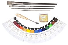OIL PAINTING ESSENTIALS Includes my complete oil palette, brushes, palette knife and studio soap.  $200.00