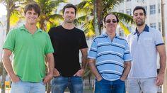 Os fundadores e sócios da Boobam: Thomaz Vidal, Henry Barclay, Fernando Val e Marco Azeredo