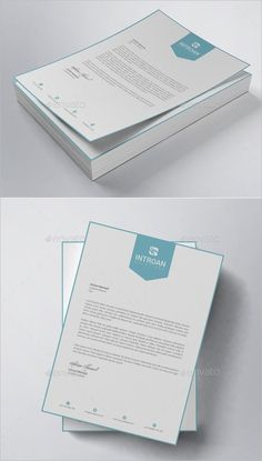 35 Fabulous PSD Letterhead Templates to Print! Letterhead Sample, Free Letterhead Templates, Letterhead Business, Print Templates, Invoice Template, Templates Free, Design Templates, Stationery Printing, Stationery Design