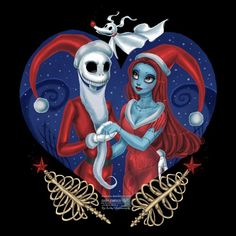 Image result for nightmare before christmas jack and sally