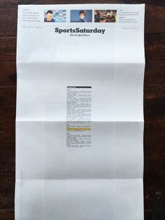 The New York Times, Sports Saturday | July 12, 2014