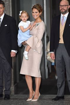 Princess Madeleine attended with her two-year-old daughter Princess Estelle