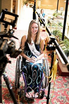 """Amber Marcy is one of the five subjects in """"Defining Beauty, """" a film focused on disabled women competing for the 2010 title of Ms. Wheelchair America."""