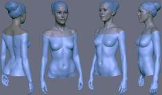 ArtStation - Girl character in progress., Eugene Fokin