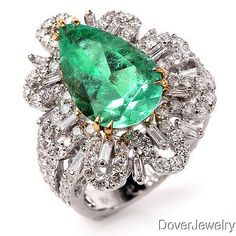 We pride ourselves in carrying high quality estate and antique jewelry. Emerald Ring Vintage, Wedding Rings Vintage, Emerald Jewelry, Old Jewelry, Girls Jewelry, Pandora Jewelry, Luxury Jewelry, Gemstone Jewelry, Antique Jewelry