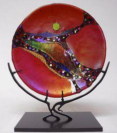 Ruby Moon by Karen Ehart – Large (Art Glass Sculpture) - Cool Glass Art Designs Large Art, Glass Art Pictures, Moon Art, Sculpture, Stained Glass Church, Art, Mosaic Art, Fused Glass Art, Glass Art Sculpture