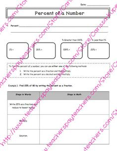 MM Percents Worksheet From Tales Of A Traveling Teacher On