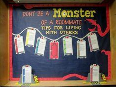 ResLife Crafts — destaneejewell: Monsters Inc. themed bulletin...