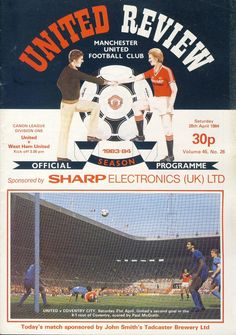 Manchester United Old Trafford, Manchester United Football, 28 April, Coventry City, Football Program, Man United, Condition Report, Programming, The Unit