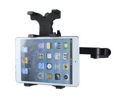 Fully adjustable tablet holder for Microphone stands - shown here holding an Ipad mini. Available at www.fretfunk.co.uk