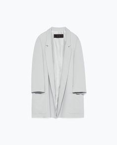 Image 8 of LONG CREPE BLAZER from Zara Crepes, Blazers For Women, Jackets For Women, Zara Women, Trousers Women, Minimalist Fashion, Blazer Jacket, Dress Skirt, Duster Coat