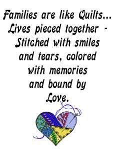 Quilt Label Sayings, Dedications and Poems