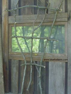 I've done this and it's so easy .. Time for more!  This web site has googles of ideas ... http://www.bluefoxfarm.com   A Picture of Twig Fan Trellis