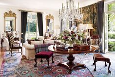 Bedford living room. Ralph Lauren's Chic Homes and Office | Architectural Digest