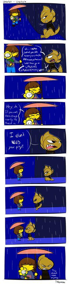 Underfell - Underbrella by THEpinknekos
