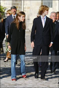 Charlotte Casiraghi and her brother Pierre receive Pascal Aujard who has covered 1000 kilometers on horseback from the Palace of Monaco to deliver a letter from Prince Rainier to the princess In Fontainebleau, France on September 17, 2003.