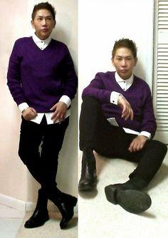 Wearing Dolce and Gabbana sweater, Landsend Dress shirt, Mens wear ...