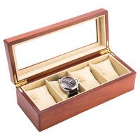 Miles Watch Case in Cherry Wood