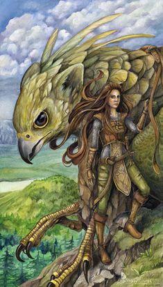 Lieutenant, protecteur ici dame nature prend le rôle d'une guerrière car elle entoure sous son aile bienveillante les jeunes pousses que nous sommes en tant qu'humain