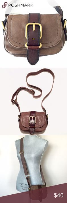 c59b776f9f3 Shop Women s Fossil Brown Tan size OS Crossbody Bags at a discounted price  at Poshmark. measures approx H W D color  taupe + chocolate brown.