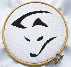 Counted cross stitch pattern, Instant Download, Free shipping, Cross-Stitch PDF, Cute black fox
