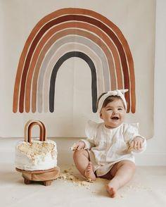 Baby Birthday Themes, Rainbow First Birthday, 1st Birthday Party For Girls, Half Birthday, Rainbow Theme, Rainbow Baby, First Birthdays, Decoration, Rainbow Clipart