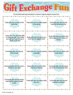 Party Games and Icebreakers Gift Exchange Game. This might be a fun twist to dirty Santa. Christmas Party Games, Christmas Activities, Christmas Traditions, Holiday Parties, Holiday Fun, Christmas Decorations, Holiday Games, Xmas Games, Holiday Quote