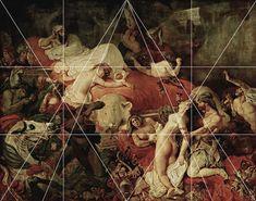 rocbo : Géométrie des peintres, Eugène Delacroix, La mort de Sardanapale