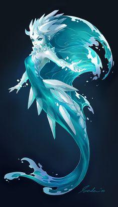 Arctic Mermaid by sandara on DeviantArt Fantasy Character Design, Character Design Inspiration, Character Art, Fantasy Mermaids, Mermaids And Mermen, Mermaid Drawings, Mermaid Art, Mythical Creatures Art, Magical Creatures