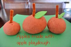 Frogs and Snails and Puppy Dog Tails (FSPDT): Apple Cinnamon Playdough & how to make apples out of it