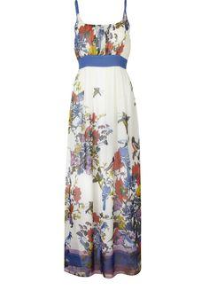 Butterfly print maxi dress