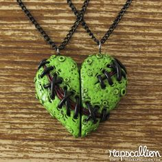Zombie Heart Best Friends Necklace Set. $30.00, via Etsy.