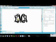 Creating monograms with Silhouette Studio - YouTube