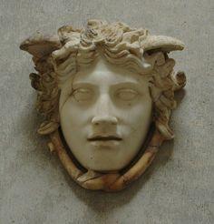 "The Gorgon Medusa (""Rondanini""), Roman decoration (marble) copy of Greek original by Phidias, 1st century BC / 1st century AD (original 5th c. BC), (Glyptothek, Munich)."