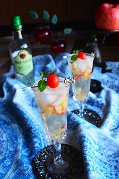 Cocktail 眠れる森のモヒート モヒート×シードル×レンチン林檎 混ぜるだけ レシピブログ Cocktail Drinks, Cocktail Recipes, Cocktails, Alcohol, Menu, Pudding, Dishes, Desserts, Blog