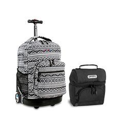 5d56050c0d J World Combo Rolling Backpack & Lunch Bag Back to School Bundle Set Sunrise  / Corey
