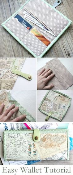 19 Ideas Sewing Pouch Pattern Diy Wallet For 2019 Wallet Sewing Pattern, Pouch Pattern, Sewing Patterns Free, Free Sewing, Free Pattern, Diy Wallet Pattern Free, Pattern Ideas, Diy Wallet Easy, Simple Wallet