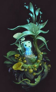 Forest Spirit Fan Art, Anessa Silzer - Sites new Studio Ghibli Films, Art Studio Ghibli, Art Anime, Anime Kunst, Kodama Tattoo, Fan Art, Mononoke Forest, Personajes Studio Ghibli, Spirited Art