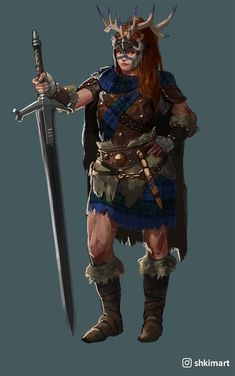 Dunmahlass - Drew a female highlander : forhonor