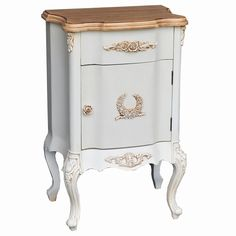French Style Cream Bedside Cabinet